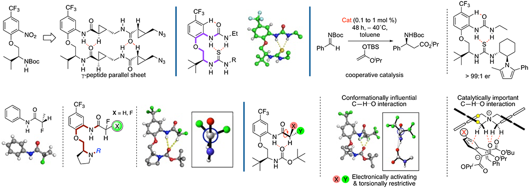 Illustration of Martin Smith's research into non-covalent interations in catalysis and structure