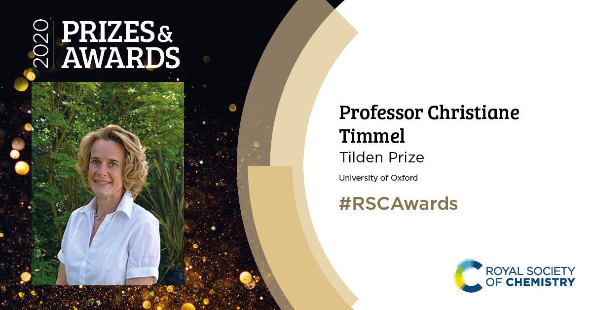 RSC 2020 award Professor Christiane Timmel