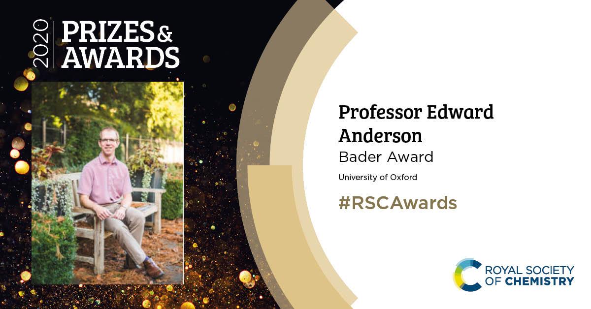RSC 2020 Awards Professor Edward Anderson