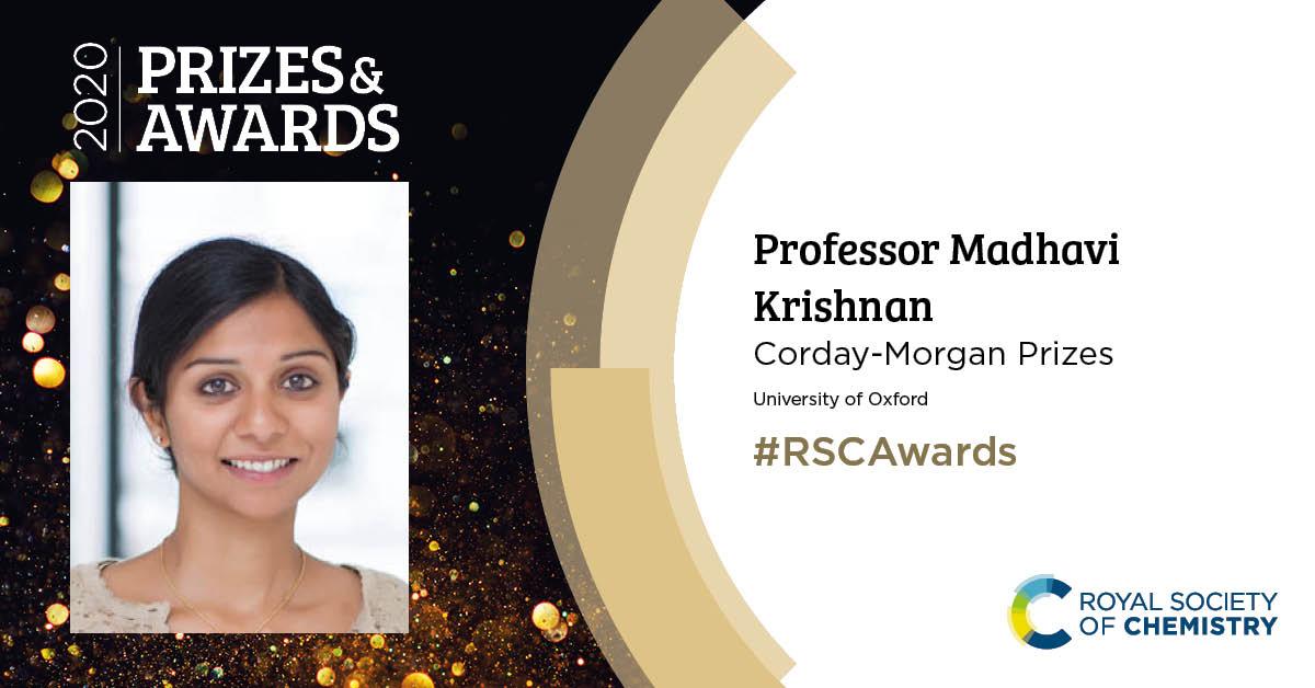 RSC 2020 Awards Professor Madhavi Krishnan