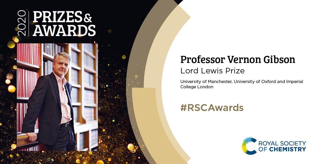 RSC 2020 Awards Professor Vernon Gibson
