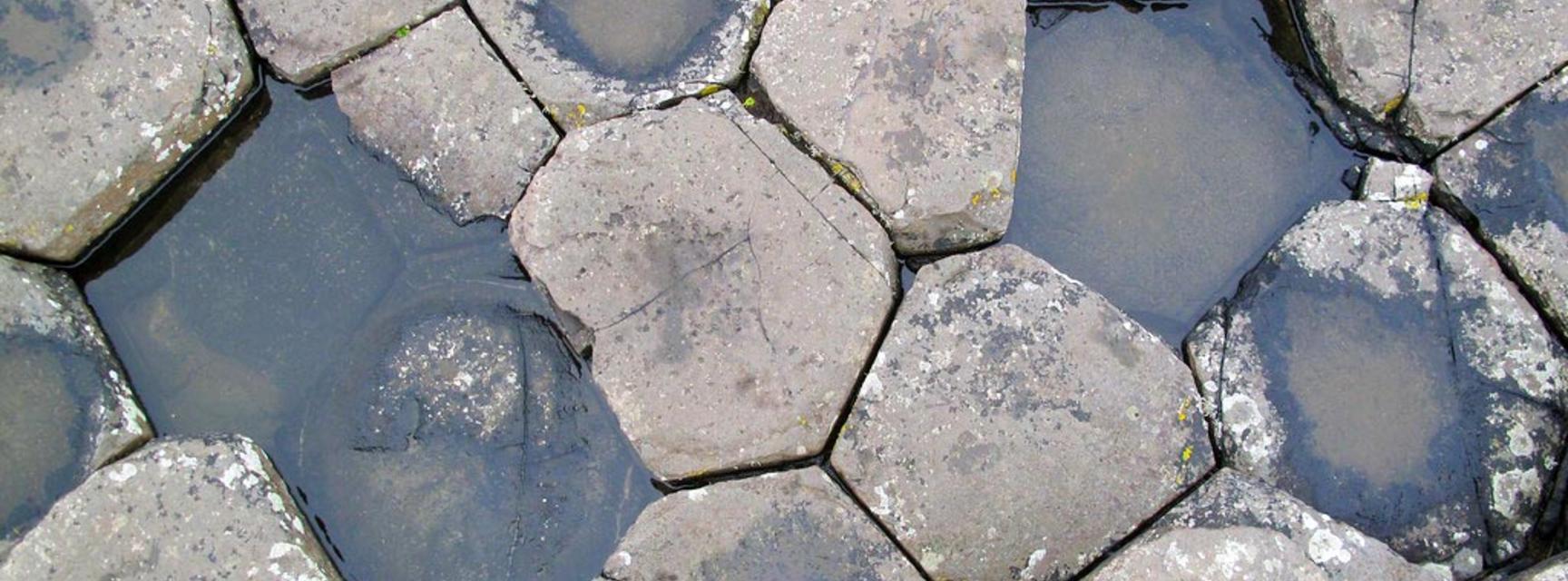 Basalt hexagons at the Giants Causeway
